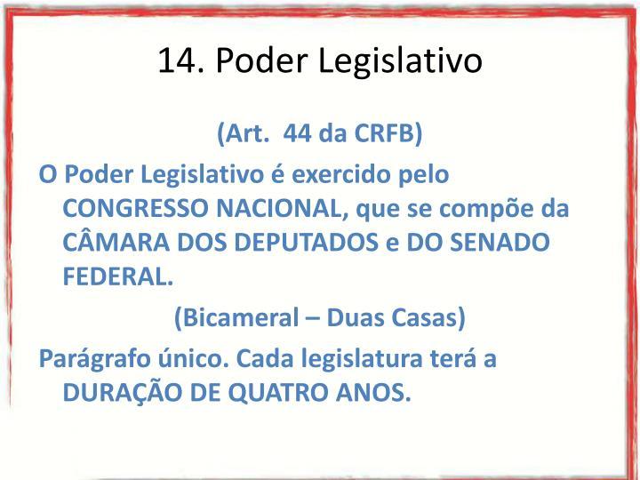 14. Poder Legislativo