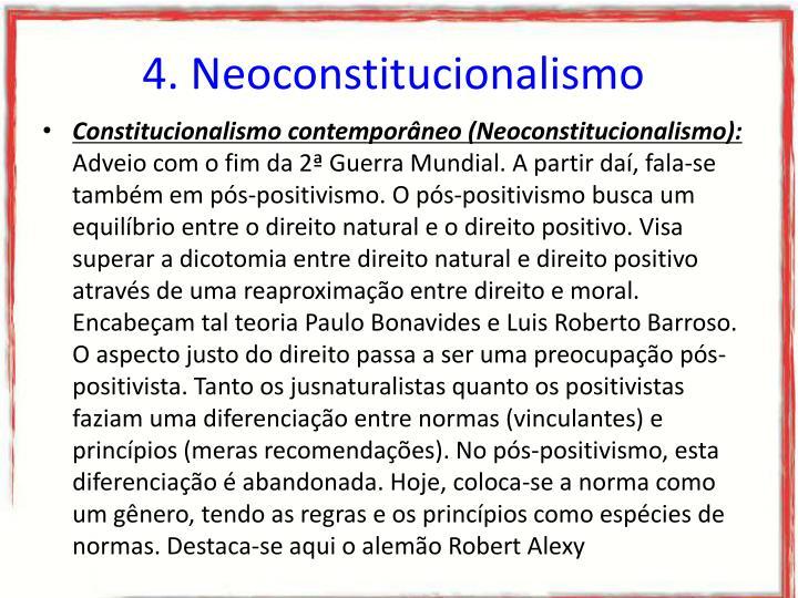 4. Neoconstitucionalismo