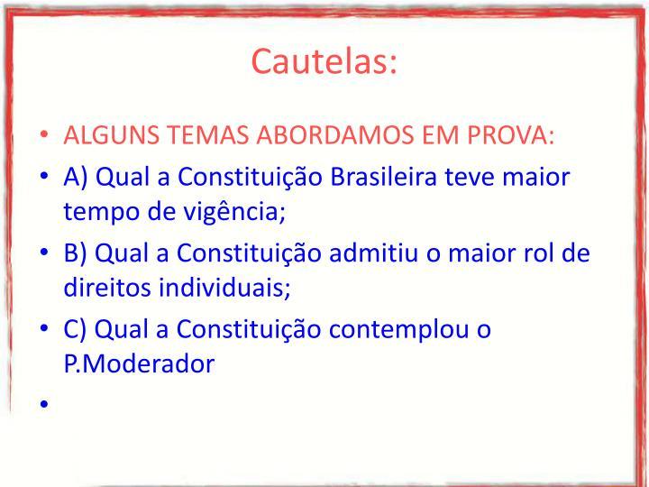 Cautelas: