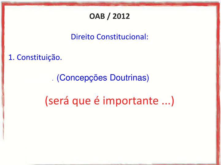 OAB / 2012