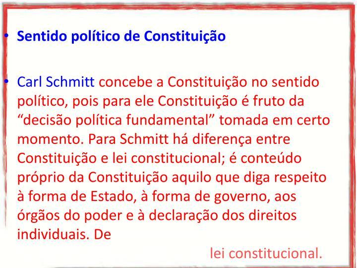 Sentido político de Constituição