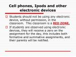cell phones ipods and other electronic devices