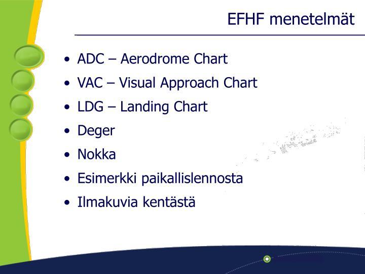 EFHF menetelmät