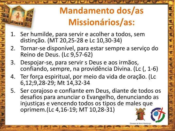 Mandamento dos/as Missionários/as