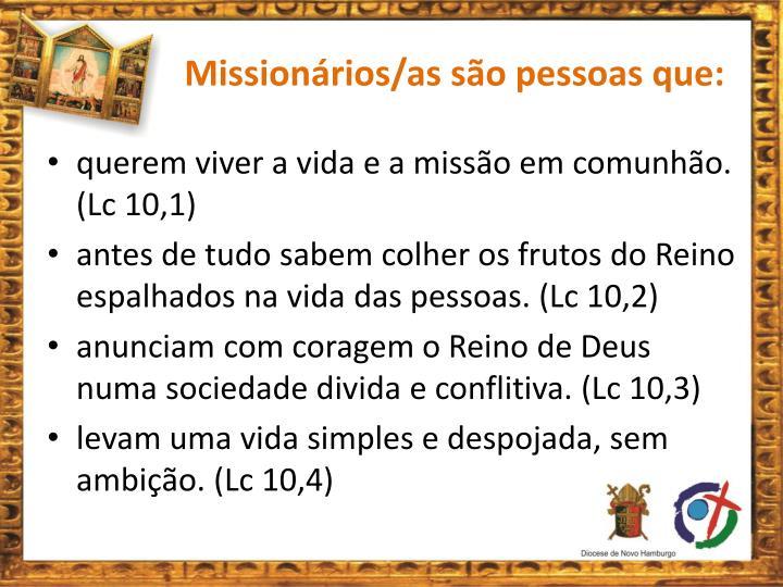 Missionários/as