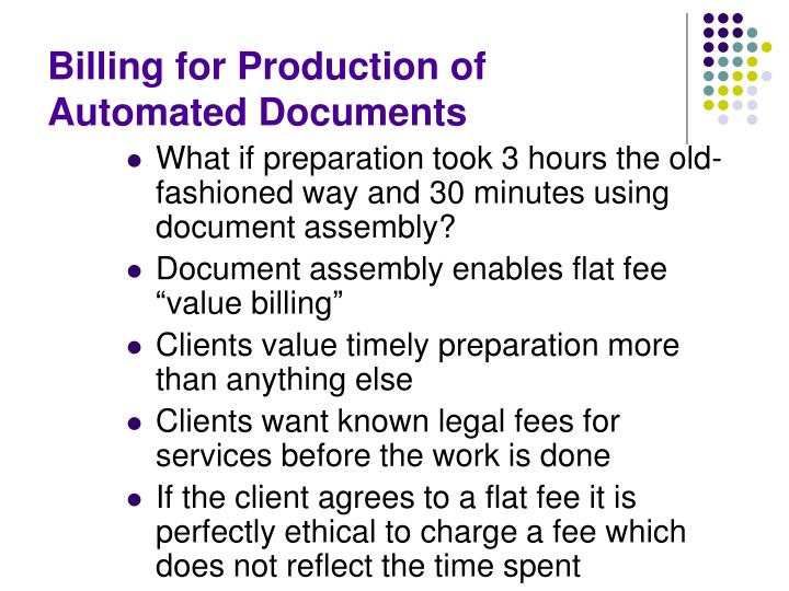 Billing for Production of