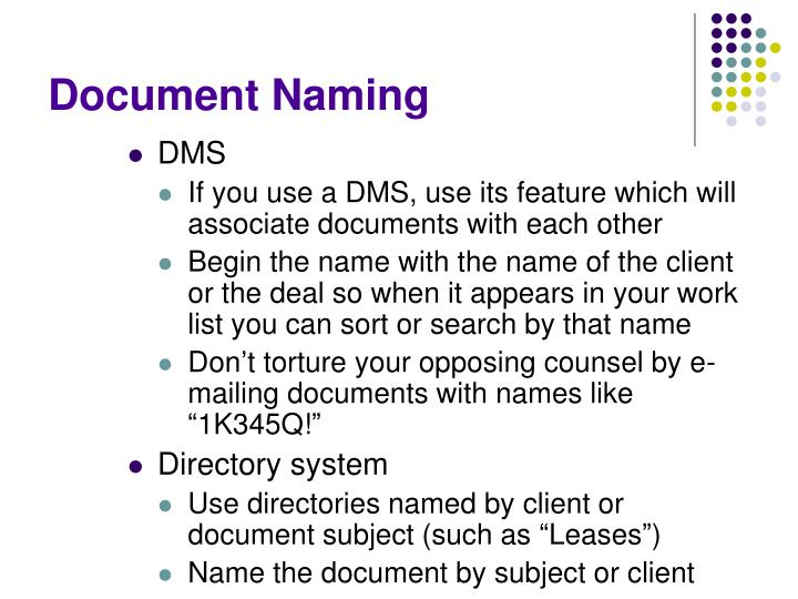 Document Naming