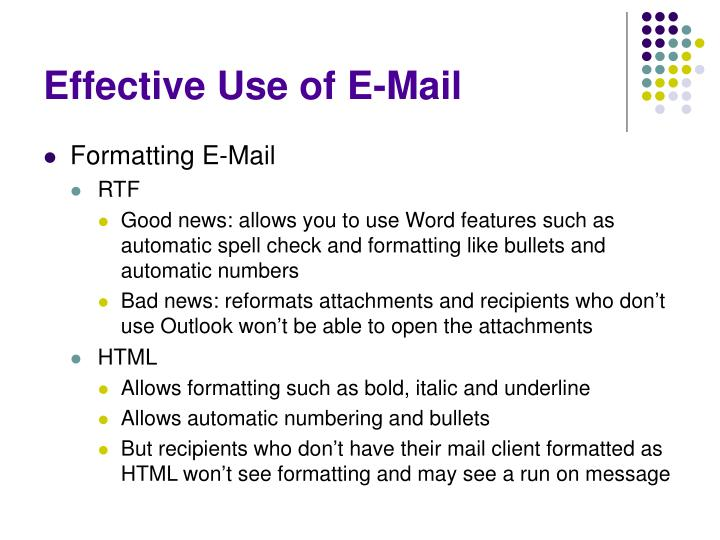 Effective Use of E-Mail