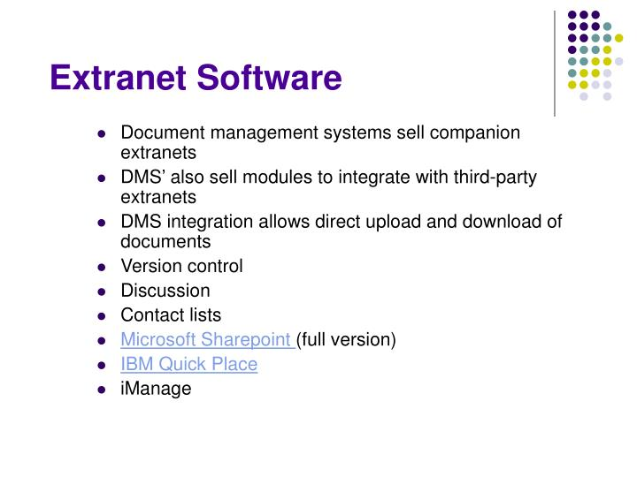 Extranet Software