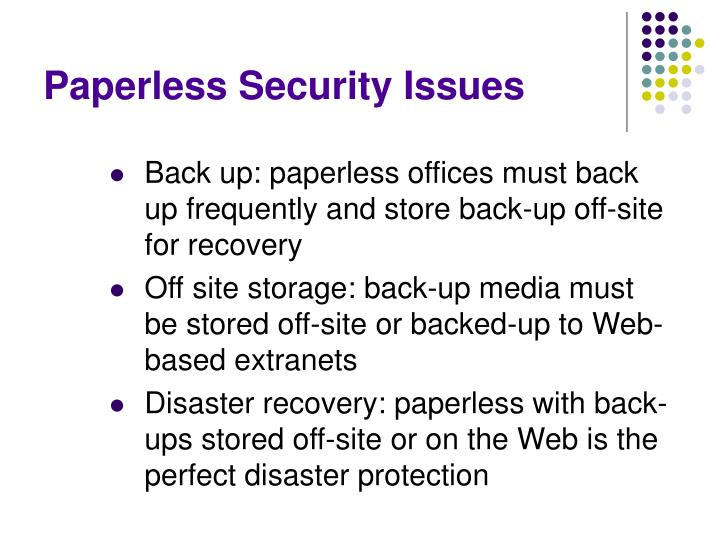 Paperless Security Issues
