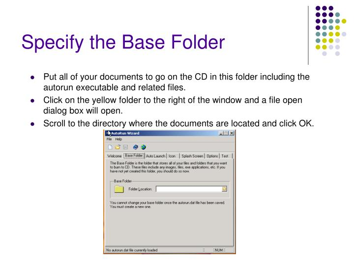 Specify the Base Folder
