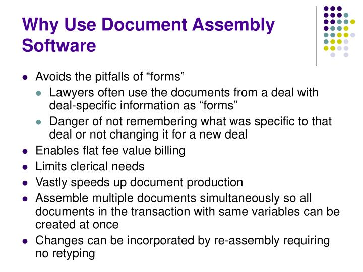 Why Use Document Assembly Software