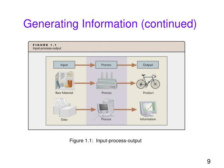 Generating Information