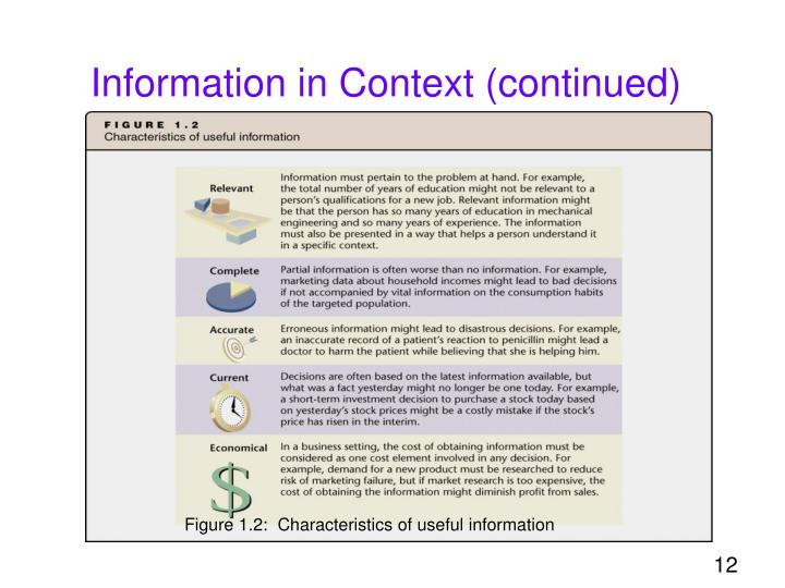 Information in Context (continued)