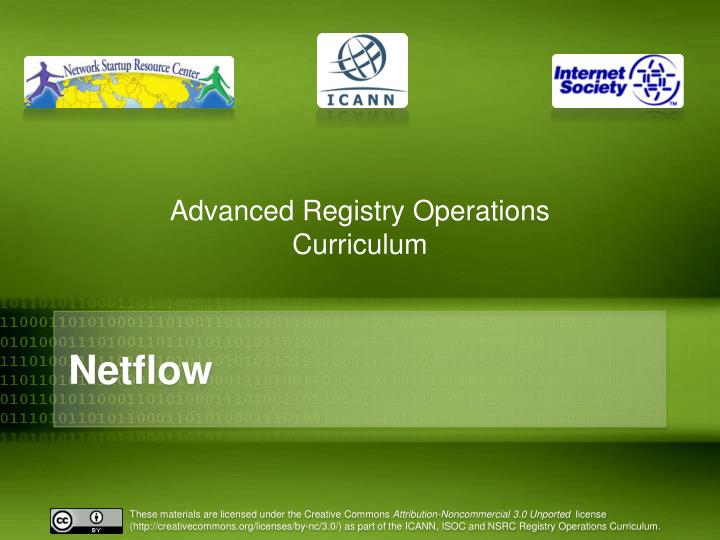 Advanced registry operations curriculum