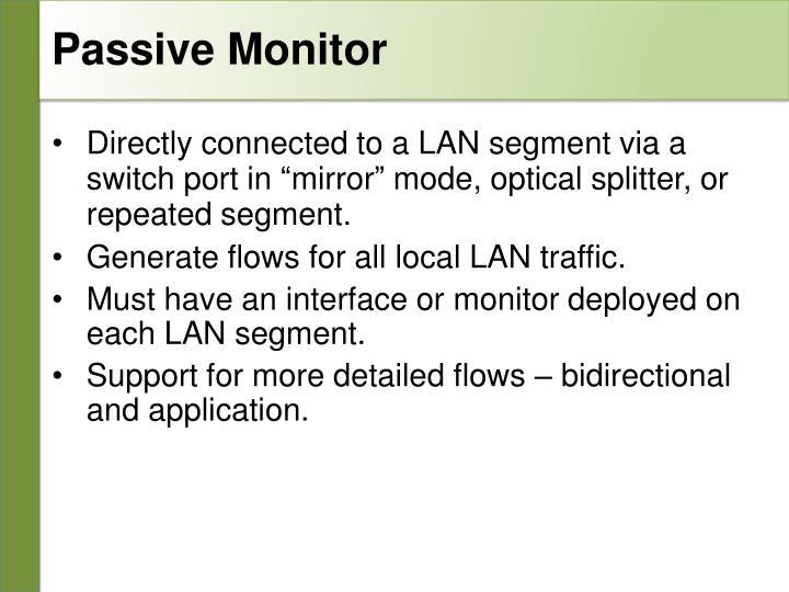 Passive Monitor
