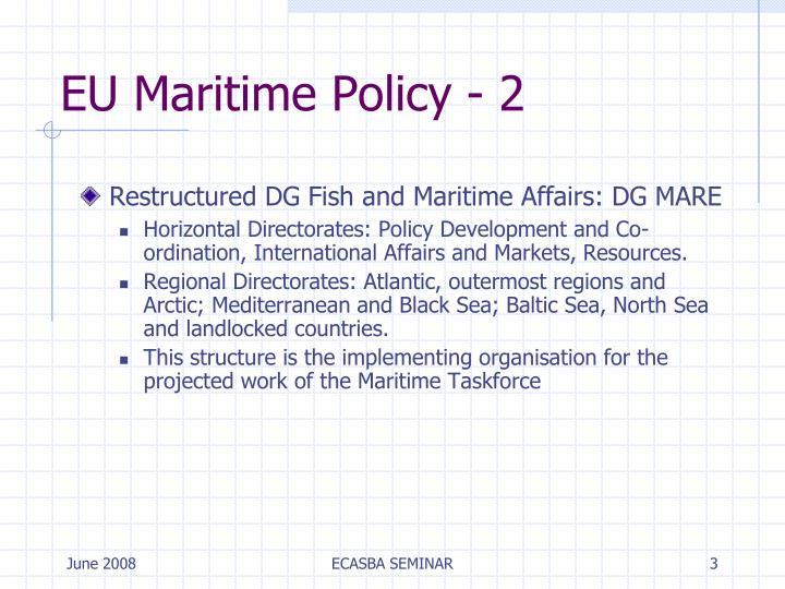 EU Maritime Policy - 2