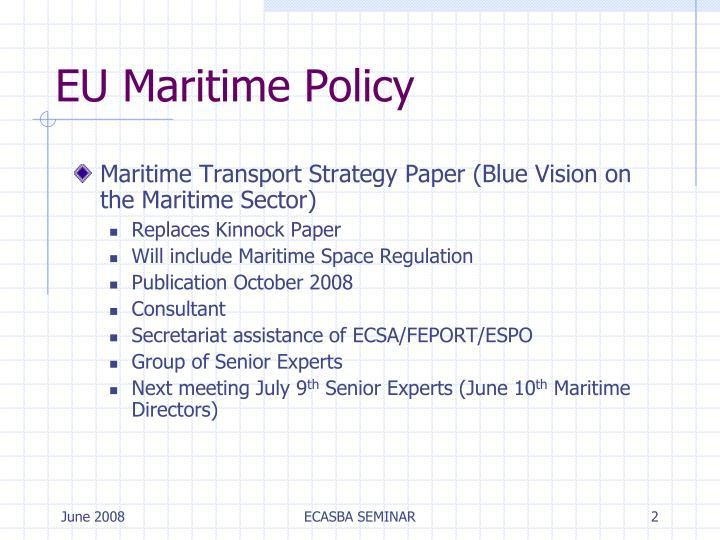 EU Maritime Policy