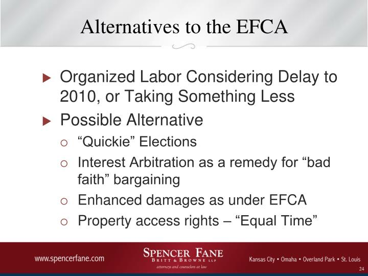 Alternatives to the EFCA
