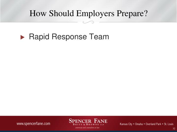 How Should Employers Prepare?