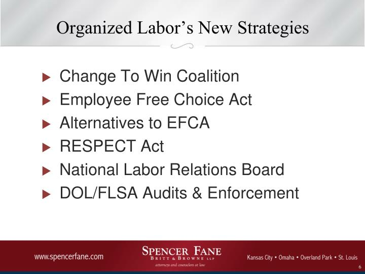Organized Labor's New Strategies