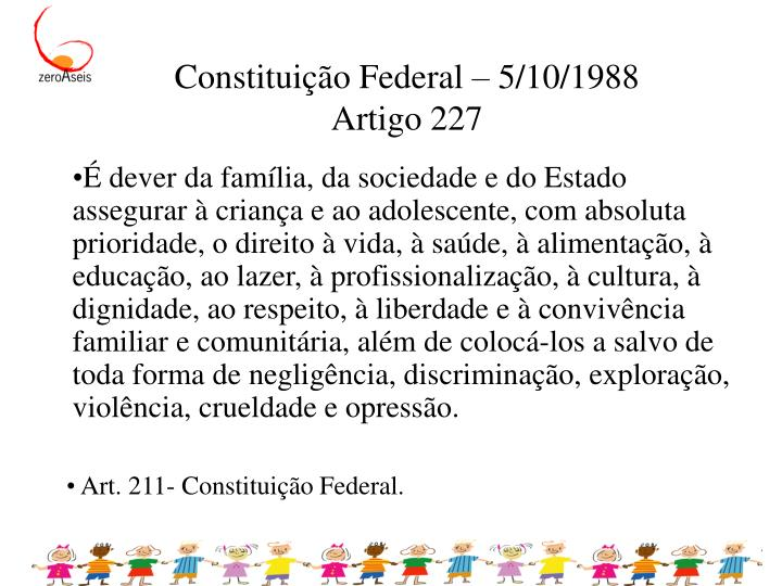 Constituição Federal – 5/10/1988