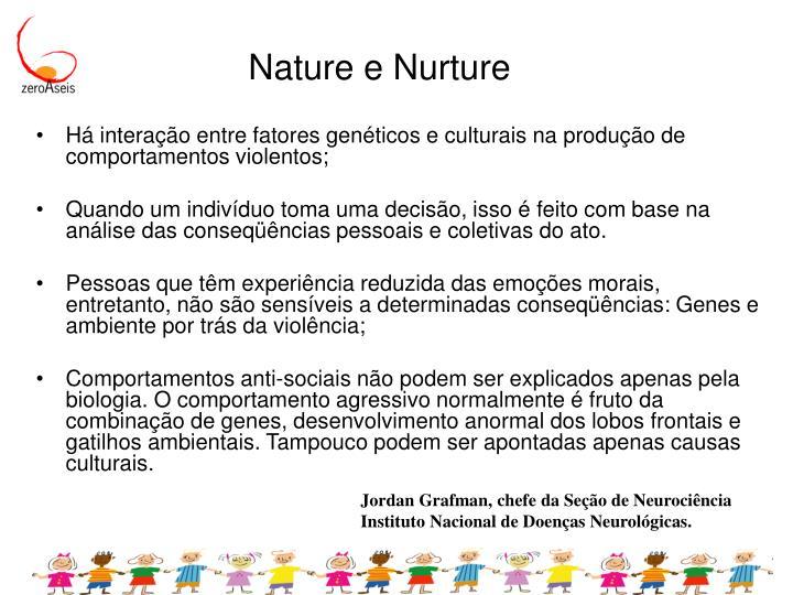Nature e Nurture