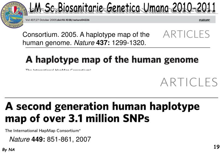 Consortium. 2005. A haplotype map of the human genome.