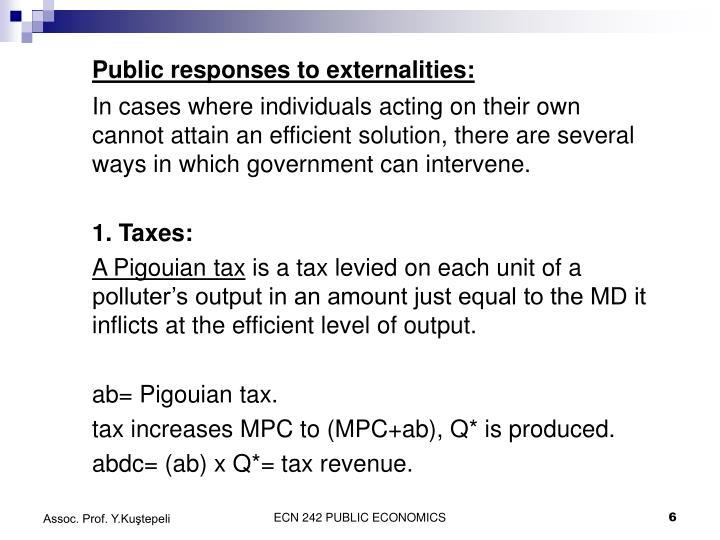 Public responses to externalities: