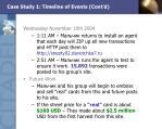 case study 1 timeline of events cont d