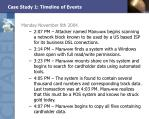 case study 1 timeline of events