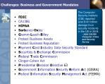 challenges business and government mandates