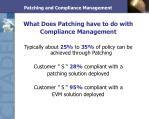 patching and compliance management