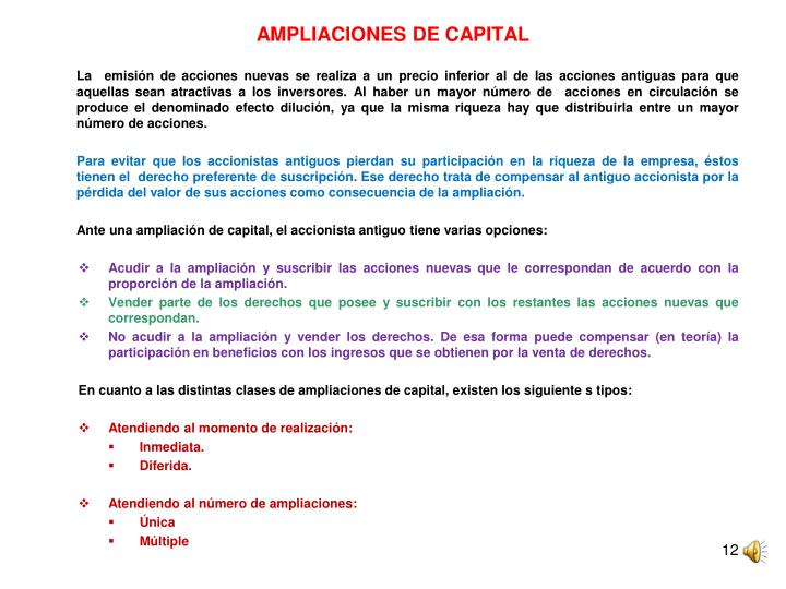 AMPLIACIONES DE CAPITAL