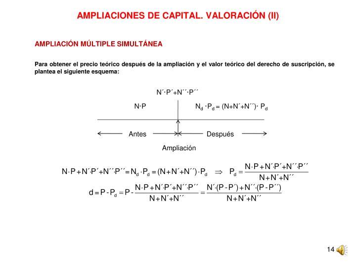AMPLIACIONES DE CAPITAL. VALORACIÓN (II)