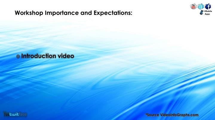 Workshop Importance and Expectations:
