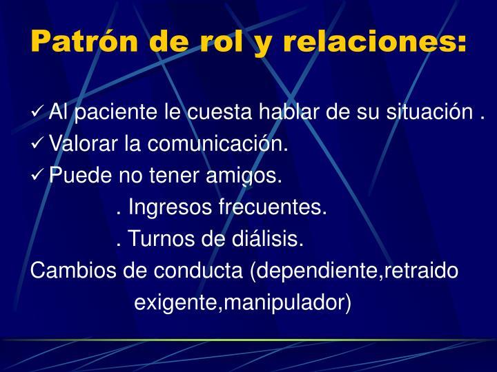 Patrón de rol y relaciones: