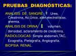 pruebas diagn sticas