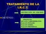 tratamiento de la i r c t1
