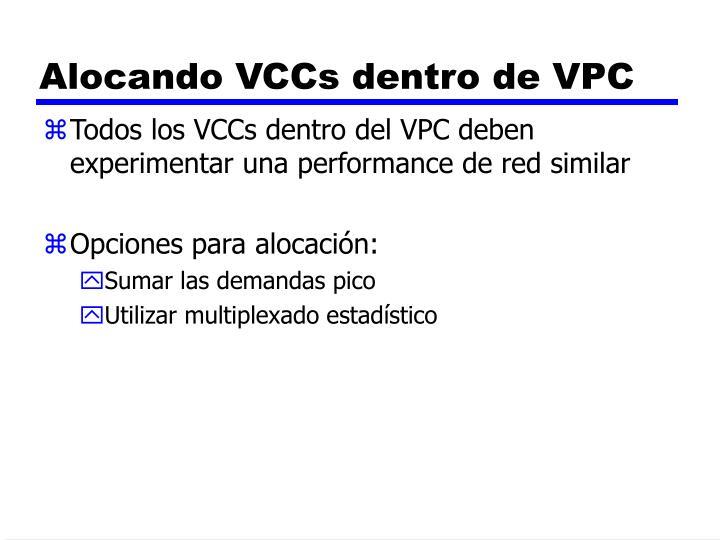 Alocando VCCs dentro de VPC