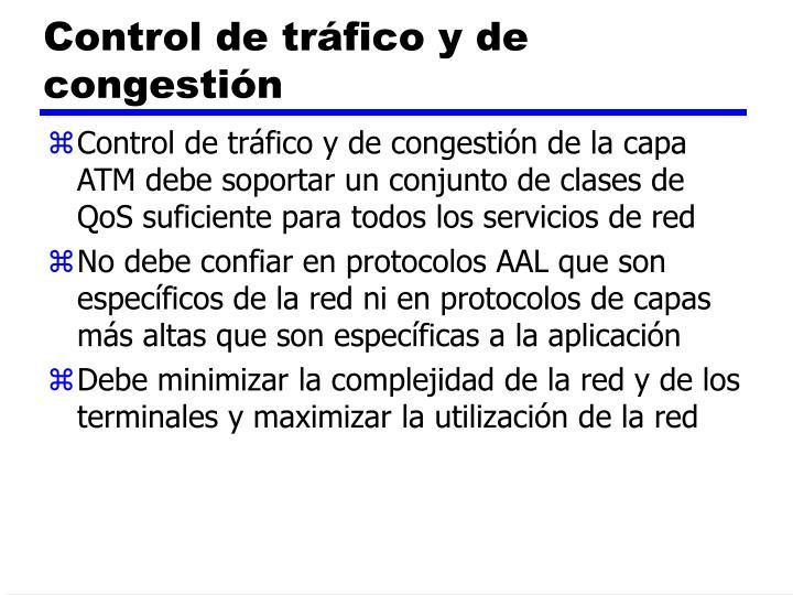 Control de tráfico y de congestión