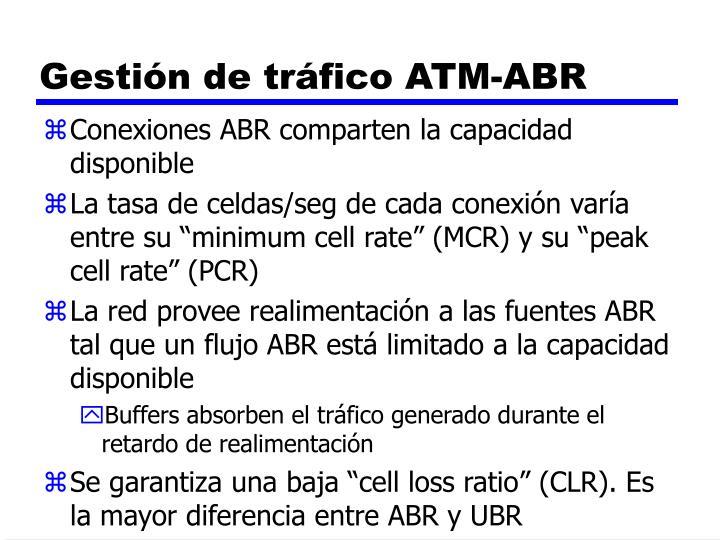 Gestión de tráfico ATM-ABR