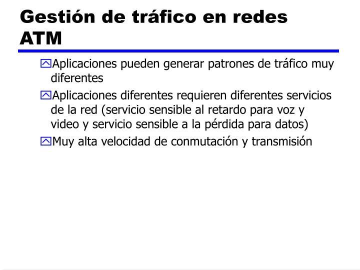Gestión de tráfico en redes ATM