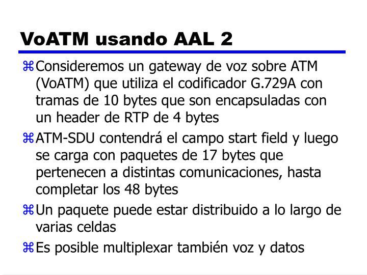 VoATM usando AAL 2