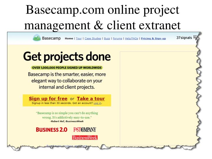 Basecamp.com online project management & client extranet