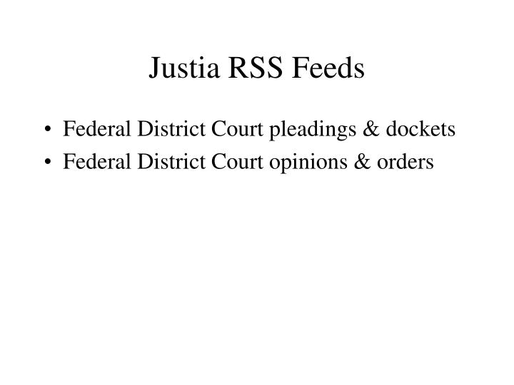 Justia RSS Feeds