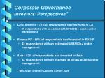corporate governance investors perspectives