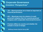 corporate governance investors perspectives1
