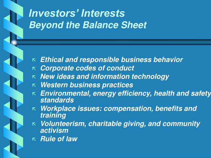 Investors' Interests