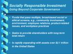 socially responsible investment going beyond corporate governance